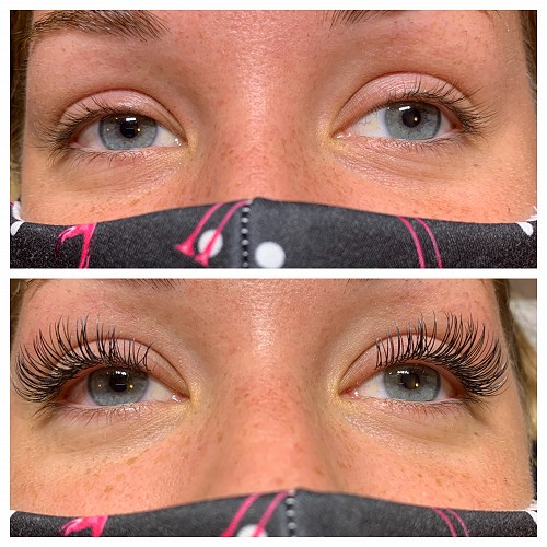 Entourage Salon & Spa provides eyelash extensions that lengthen and thicken lashes
