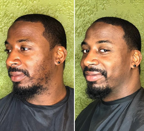 Neck and Beard trim for men at entourage salon & spa